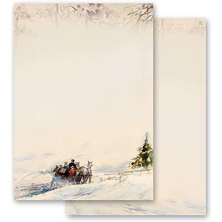 Saisons Papier /à motif MONTAGNES IN NEIGE Nature /& Paysage Hiver Hiver 100 feuilles DIN A4 Paper-Media