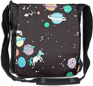 HUE FIUB Classic Space Corgi Messenger Bag Shoulder Bag Outdoor Sports Crossbody Bag Side Bag for Men Women
