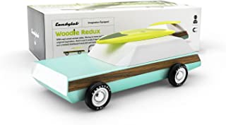 Candylab Toys - Woodie Wagon Redux Wooden Car with Surfboard - Modern Vintage Style - Solid Beech Wood