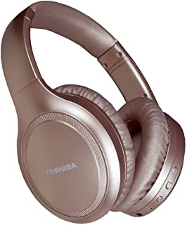 Toshiba Noise Cancelling Bluetooth Headphones | Wireless Over Ear Headphones | Bluetooth Headset with Microphone | 20 Hour...