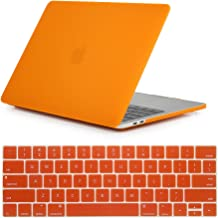 Se7enline 2016-2019 MacBook Pro Case Bundle Soft-Touch Plastic Hard Case Cover for MacBook Pro 13 inch with/Without Touch Bar and Touch ID Model A1706/A1708/A1989/A2159 with Keyboard Cover, Orange