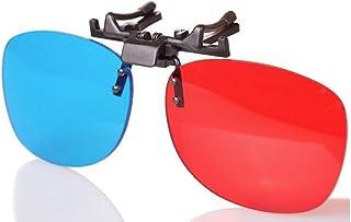 BORDER. クリップ 式 3Dメガネ アナグリフ 眼鏡 プラスチック製 オンザ眼鏡 仕様 高性能 立体 映像 リアル ビジョン 映画 鑑賞 テレビ 写真 雑誌 アミューズメントパーク インターネット ゲーム 動画 【製品保証30日】