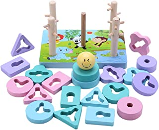 chinatera Puzzle Toys Multifunction Educational Building Blocks Kids Early Learning Toy