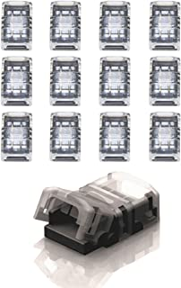 GOOCHAN 2-Pin LED Connector for 8MM Wide Non-Waterproof Single Color LED Strip Light- Strip to Strip Quick Connection