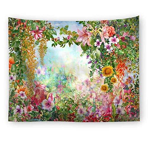 Flor puente tapiz colgante de pared boda colorido paisaje tapiz pared vacaciones belleza boda tapiz A12 150x200cm
