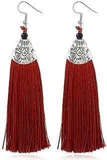 Tassels Eardrop, Challyhope Women Vintage Bohemia Tassel Long Thread Tassel Drop Dangling Earrings For Women Girls
