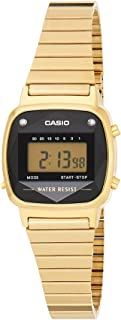 Casio Womens Quartz Watch, Digital Display and Stainless Steel Strap LA670WGAD-1DF