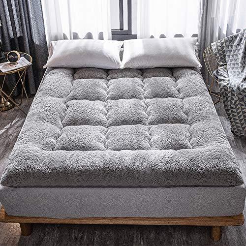 TriGold Paño Dormir Tatami Estera De Meditación Espesar, Futón Caliente Colchón Topper Respirable Suave Tatami Dormir para Dormitorio Dormitorio-Gris 120x200cm(47x79inch)