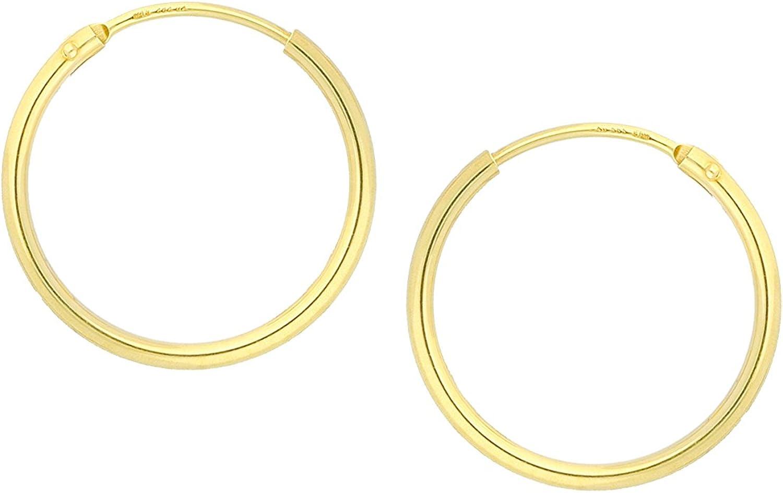 Weissgold Klappcreolen   Grösse  10,80 x 4,20 mm    1 Paar  8 Karat