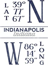 longitude and latitude of indianapolis indiana