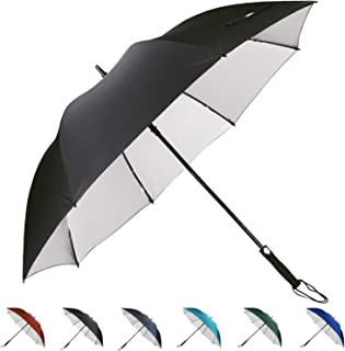 G4Free Windproof UV Protection Golf Umbrella Large 62 Inch Automatic Open Sun Rain Stick Umbrellas