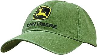John Deere Embroidered Logo Baseball Hat - One-Size - Men's Green