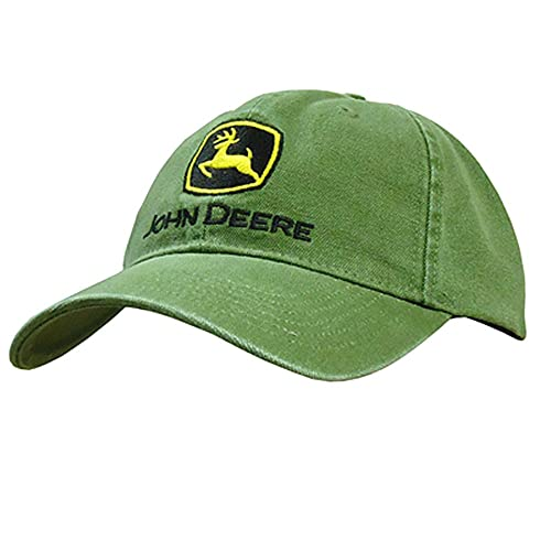 e998b2fda6c JOHN DEERE HEAVY WASHED CANVAS   EMBROIDERED LOGO CAP