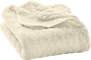 Disana 100 % merinoull babyfilt stickad överdrag sängvagn 100 x 80 cm nyfödd 5113 (naturlig)
