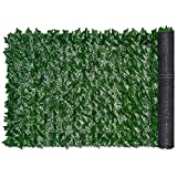 "Lvydec Artificial Ivy Privacy Fence Screen, 118"" 39"" Artificial Hedges Fence and Faux"
