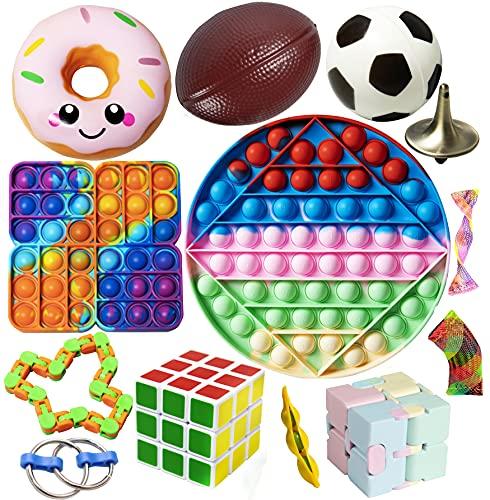 Gmajtars Fidget Sensory Toy Pack Barato, Set de Juguetes Sensoriales Antiestrés Anti Estres Push Pop Bubble Figwt Figet Fidget Toys Box para Niños Adultos Regalo Fiesta Navidad Cumpleaños