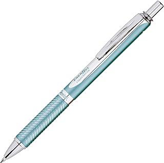 Pentel EnerGel Alloy RT Premium Gel Ink Pen, (0.7mm), Aquamarine Barrel, Black Ink, 1 Pack (BL407LSBPA)