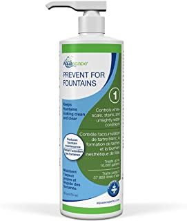 Aquascape PREVENT Water Treatment for Fountains, Waterfalls, Rock and Gravel, Prevent White-scale Buildup, Stains, Foam and Other Unsightly Water Conditions, 16 ounce / 473-ml | 96074