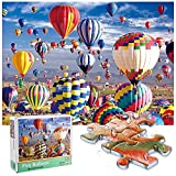 Genhoo Puzzle 1000 Piezas,Puzzles para Adultos Puzzle Educa Rompecabezas Adultos,Juegos Puzzles Se Aplica A Adultos/Infantiles/Regalo NiñO Puzzle Infantiles 3+ AñOs(Globo AerostáTico Puzzle)