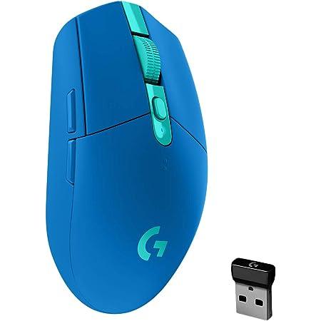 Logitech G305 LIGHTSPEED Ratón Gaming Inalámbrico, Captor HERO 12K, 12,000 DPI, Ultra-ligero, Batería de 250h, 6 Botones Programables, Memoría Integrada, PC/Mac - Azul