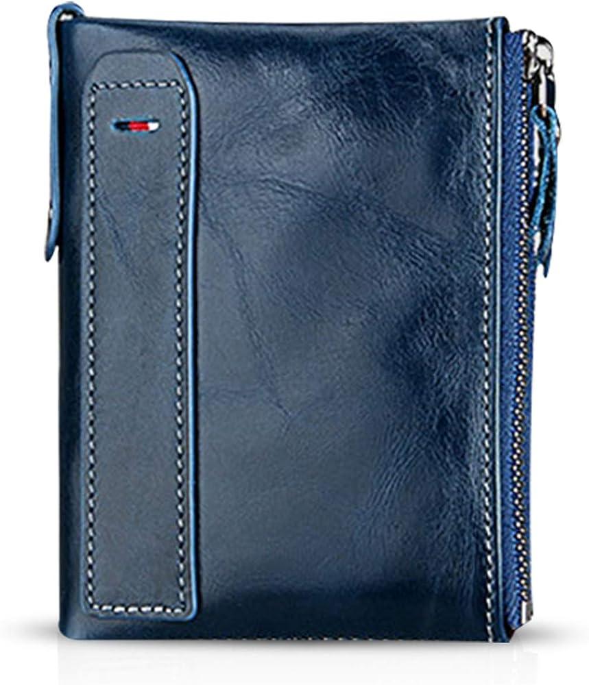 Fandare portafoglio porta carte di credito con protezione anticlonazione unisex in pelle AK-BV004