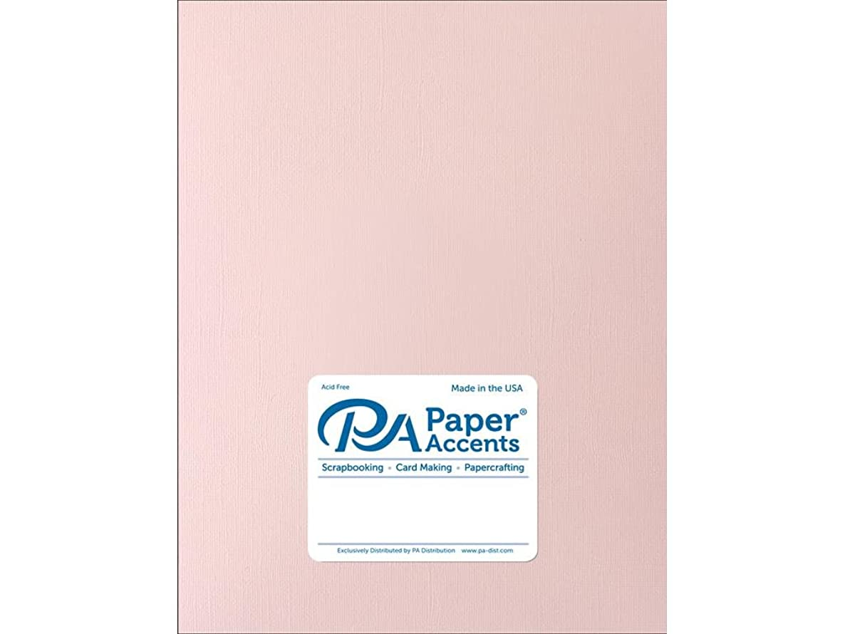 Paper Accents Cardstock 73 lb White Plum Muslin 8.5