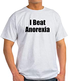 I Beat Anorexia T Shirt 100% Cotton T-Shirt, White