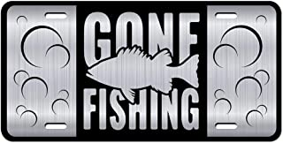Gone Fishing Vanity Front License Plate Tag KCE320