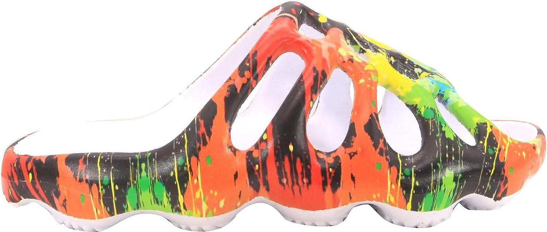 Cape Robbin Pond Flat Slip On Slides Sandals Paint Splatter Wedge Fashion Mule (11, PASP)