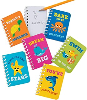 Fun Express Sea Friends Notepads - 24 pc - Ocean and sea theme notebooks