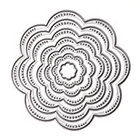 whitelotous Cutting DiesフレームカットDiesステンシルメタルテンプレートMould for DIYスクラップブックアルバム用紙カード WC-112