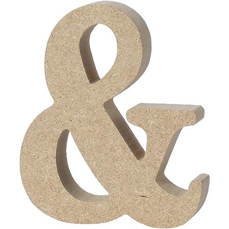 WINOMO Lettres en Bois d'alphabet Grandes Plaques Numériques Accueil Décoration de Mariage