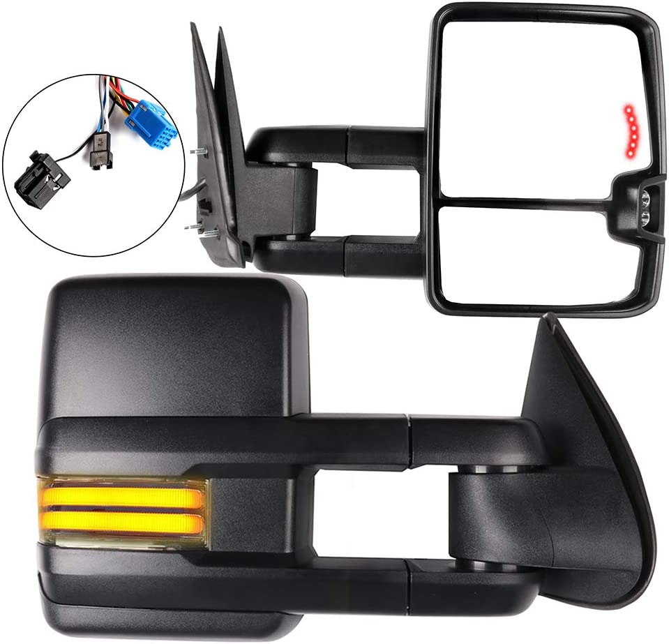 FINDAUTO OFFicial shop Tow Mirrors Attention brand Compatible with 2003-2006 Silverado G Chevy