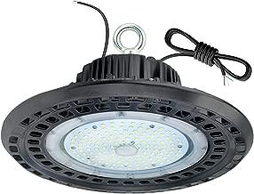 100W LED High Bay Light,0-10V Dimmable,12500 Lumens,110V-277V,350W-400W HPS Equivalent,Great High Bay LED Shop Lights for Warehouse Lighting Applications (Dimmable 100Watt)