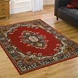 Flair Rugs Element Lancaster Traditional Rug, Red, 120 x 160 Cm by Flair Rugs