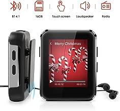 """Reproductor MP3 16GB Bluetooth 4.1 con 1.77"""" Pantalla Táctil Completa, Timoom MP3 Bluetooth Running HiFi con Auriculares y Clip para Grabación, FM Radio, E-Book, Vídeo, Soporte hasta 128 GB TF Tarjeta"""