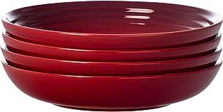 """Le Creuset PG9005S4-2267 Pasta Bowls (Set of 4), 8.5"""", Cerise (Cherry Red)"""