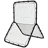 Goplus Baseball Softball Soccer Rebounder Double-Sided Multi-Sport Return Trainer Throw Pitchback Net Baseball Hitting Net Training Screen
