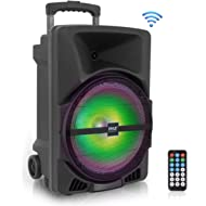 Wireless Portable PA Speaker System -1200W High Powered Bluetooth Compatible Indoor and Outdoor...