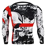 SUOTF Boxing Mens MMA Boxing Sports Training Muay Thai Fighting Fitness Elastic Casual Sweatshirts Boxing Clothing Tights Clothes. (L)