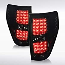 Autozensation For Ford F150 Pickup Truck Smoke LED Rear Tail Brake Lights Pair