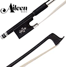 Aileen Carbon Fiber Violin Bow with Hand Made Ebony Frog and Siberian Horse Hair for Replacement, 4/4 Full Size