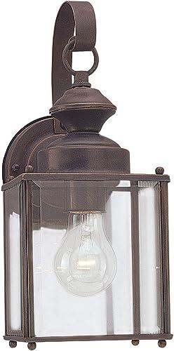 lowest Sea Gull popular Lighting 8457-71 Jamestowne online sale Outdoor Wall Lantern Outside Fixture, One - Light, Antique Bronze outlet sale