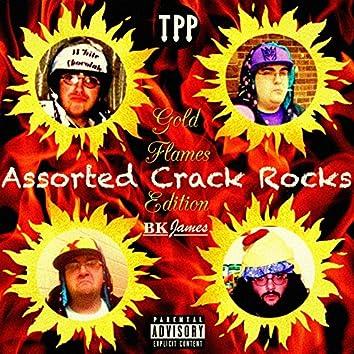 Assorted Crack Rocks: Gold Flames Edition
