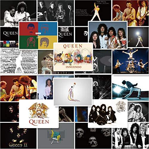 SHIHE British Rock Queen Band Hand-Bill Sticker Retro Nostalgic Suitcase Guitar Skateboard Doodle Sticker 30 Pcs