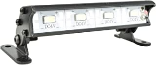Apex RC Products 4 LED 70mm Aluminum Light Bar Fits Traxxas Rustler, Bandit, E-Revo, Nitro Rustler, Jato, Redcat Backdraft 3.5, ECX 1/18 Roost & More #9041