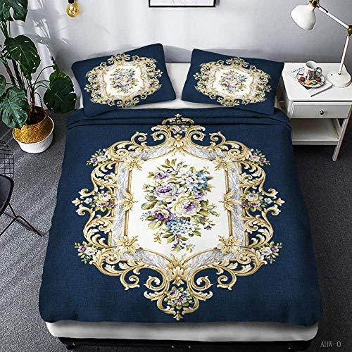 Nologo Cover Sets Bedding Set Super King Size,Bohemian Exotic Style Duvet Cover Set 100% Cotton Bedding Duvet Cover & Pillowcase Single Double Extra Large@H_(200 * 200Cm) 3Pcs