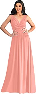 Womens Long Sleeveless Flowy Bridesmaid Cocktail Evening Gown Maxi Dress