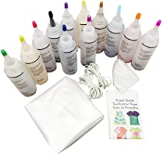 Tie Dye DIY Kit, 12/18 Colors Tie Dye Shirt Fabric Textile DIY Design Safe Non Toxic Permanent Dyes Set with Rubber Bands, Gloves for Women, Kids, Men Family Friends Group Party Supplies (12 Colors)