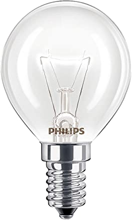2 x Philips Oven 40w Lamp SES E14 Small Screw Cap 300° Cooker Light Bulb Fits AEG/Bosch/Siemens/Neff/Hotpoint